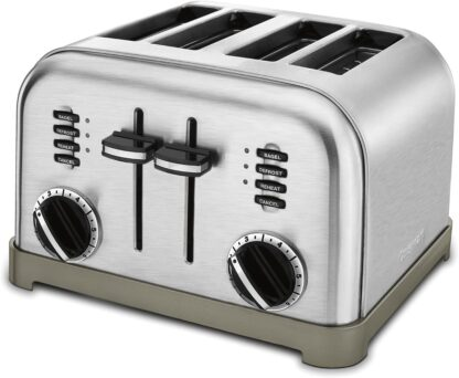 metal classic 4 slices bagel toaster